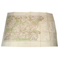 Map, German, Neufchateau-Bastogne, 1941