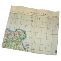 Carte de Cherbourg & Caen, 1943, Utah Beach / Omaha Beach