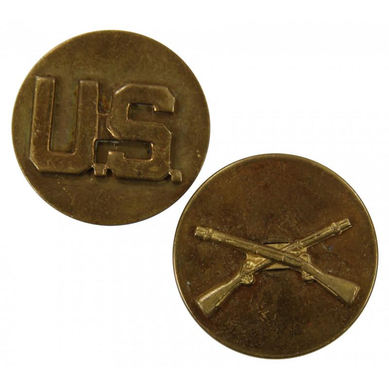Disks, Collar, Infantry & US, Enlisted men