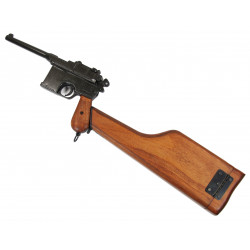 Pistol, Mauser C-96, with wooden stock / case