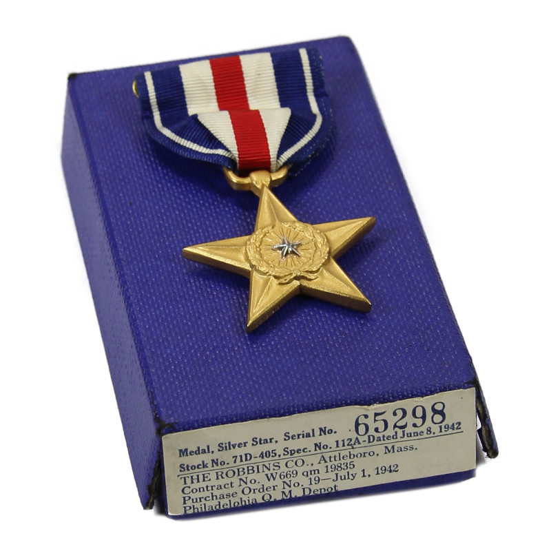 Medal, Silver Star, Numbered 65298, 1942