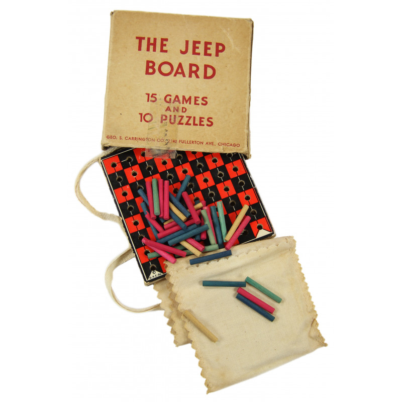 Box, Games and Puzzles, US Army, The Jeep Board