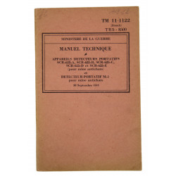 Technical Manual 11-1122, mine detector SCR-625, 1943 (French version)