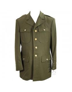 Coat, Wool, Serge, OD