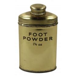 Boite de talc britannique, 1 3/4 oz., 1940