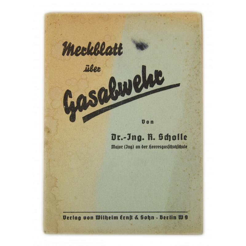 Booklet, Merkblatt für Gasabwehr, 1940