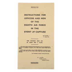 Instructions in the Event of Capture, 8th Air Force, 1942
