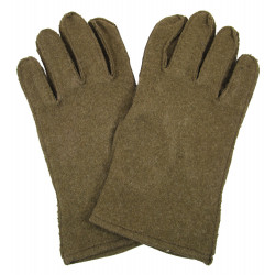 Gloves, Wool, with leather palm, US Army, size 10