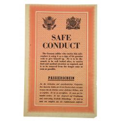 Laissez-passer ZG 37 (Safe Conduct / Passierschein), 1944