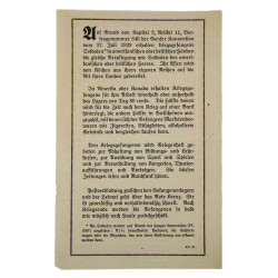 Safe Conduct / Passierschein, ZG 37, 1944