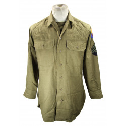 Chemise moutarde, T/4, Armored Battalion
