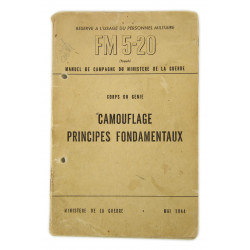 Field Manual 5-20, Camouflage principes fondamentaux, 1944 (French Version)