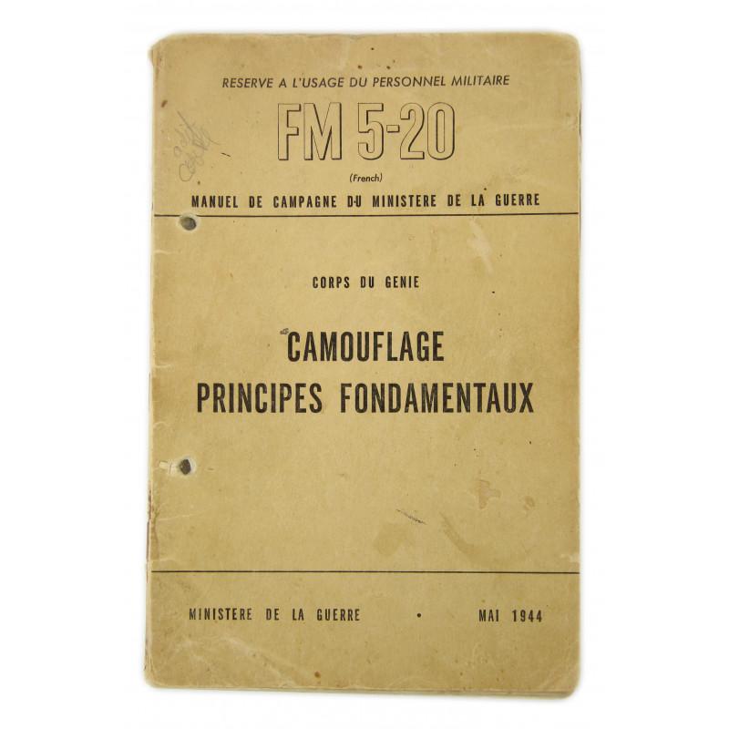 Field Manual 5-20, Camouflage principes fondamentaux, 1944 (French Version)