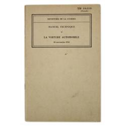 Technical Manual 11-510, La voiture automobile, 1943 (French version)