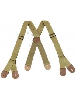 Suspenders, Jump Trousers, M-1942, khaki