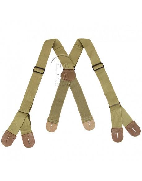 Bretelles de pantalon para US M-1942, kaki clair