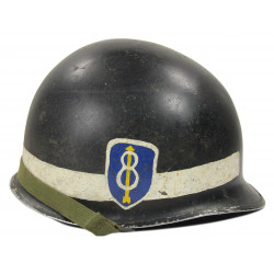 Casque M1, 8th Infantry Division, Military Police, complet