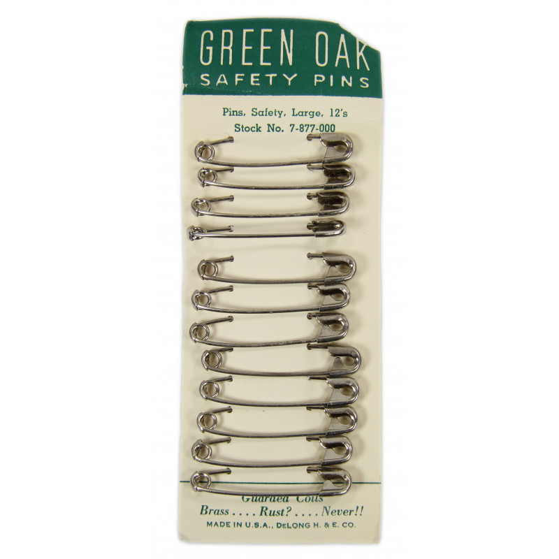 Pins, Safety, Large, Green Oak