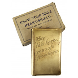 New Testament, Steel Shield, Gold-plated, Named