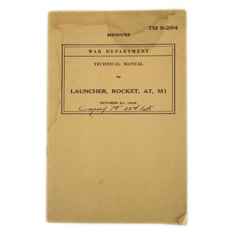 Technical Manual TM 9-294, Launcher, Rocket, AT, M1, 1942