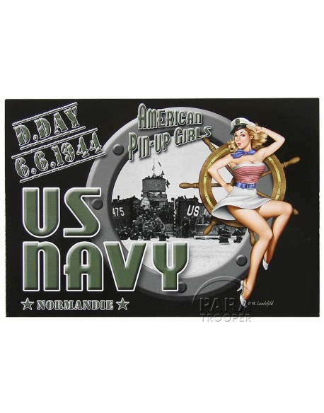 Post Card, Pin-Up Navy