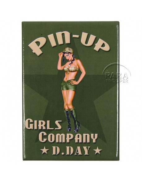 Magnet, Pin-Up, US Army
