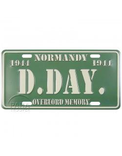 Plaque de véhicule D-Day, miniature