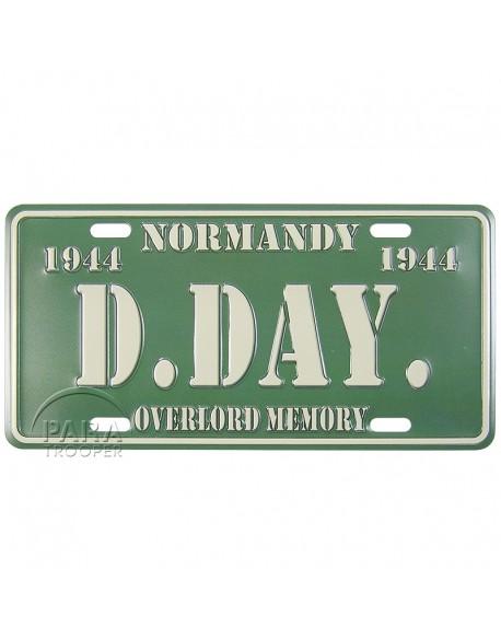 D-Day postal plaque