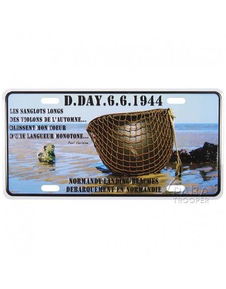 Plaque postale D-Day 6.6.1944