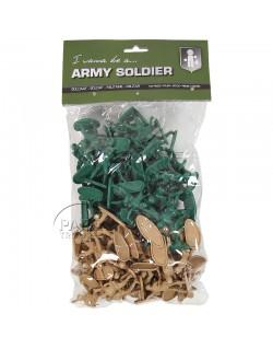 Box, 100 plastic soldier