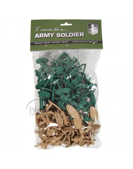 Sachet de 100 soldats, plastique