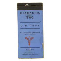 Booklet, Tag, Diagnosis, 1917
