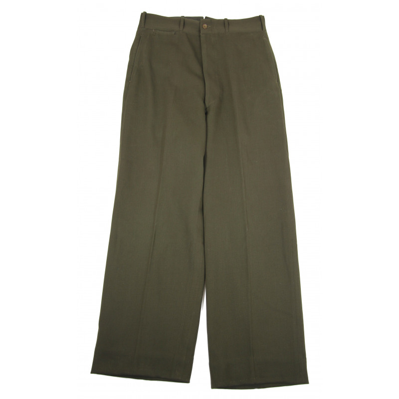 Trousers, Wool elastique, Drab, Officer's, Chocolate