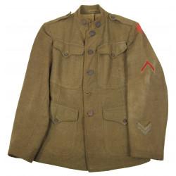 Casque + veste artillerie, 6e Divison d'Infanterie US, WWI