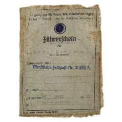 Permit, Motor vehicle operator's, Reichsführer SS, 1944