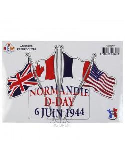 Autocollants Normandie D-Day 6 juin 1944