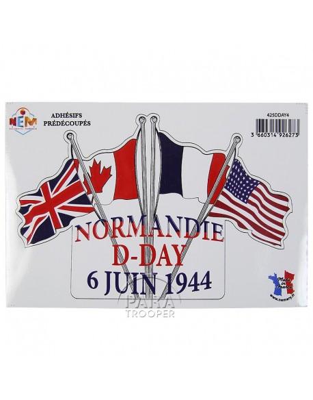 Autocollant Normandie D-Day 6 juin 1944
