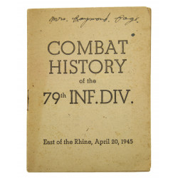 Historical Booklet, 79th Infantry Division, April 1945