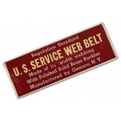 Belt, Web, Trouser, US service, in box
