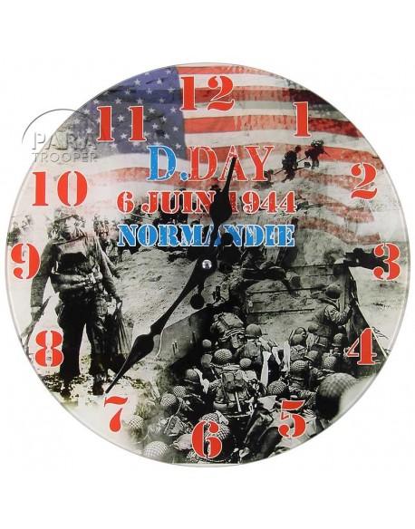 Horloge D-Day 6 juin 1944, Normandie