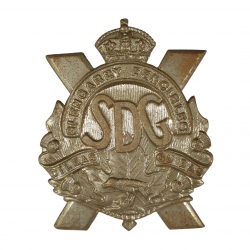 Badge, Cap, Stormont, Dundas and Glengarry Highlanders, Normandy, W. Scully, Montreal