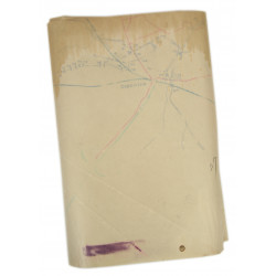 Carte ronéotypée, Top Secret, Draguignan-Le Muy, Anvil-Dragoon, 517th PRCT