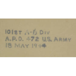 Map, Mimeographed, Top Secret, Draguignan-Le Muy, Anvil-Dragoon, 517th PRCT