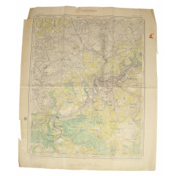 Map, US Army, Verviers (Belgium), 1943