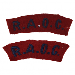 Paire de titles, Royal Army Ordnance Corps
