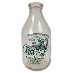 Bottle, Milk, Cloverleaf, Half Gallon Liquid