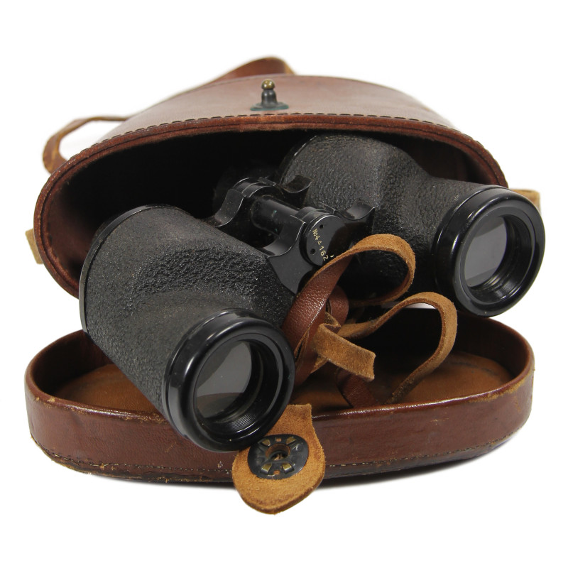 Binoculars, 6x30, and carrying case, 1942, Named