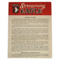 Bulletin, Screaming Eagle, 101st AB Division Association, January 1949