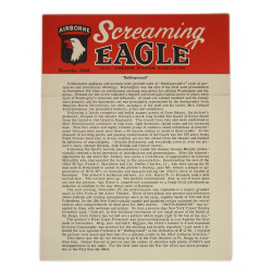 Newsletter, Screaming Eagle, 101st AB Division Association, January 1949