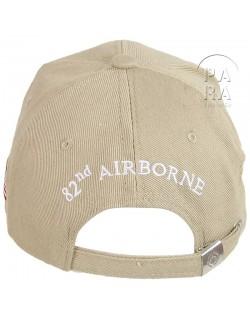 Casquette 82ème airborne, beige
